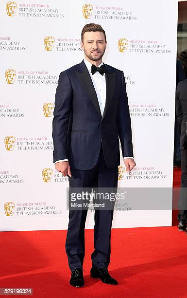 Justin Timberlake arrives for the House Of Fraser British Academy Television Awards 2016 at the Royal Festival Hall on May 8 2016 in London England