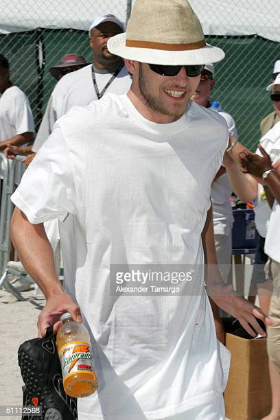 Justin Timberlake at the N'SYNC 6th annual Challenge for the Children skills competition on July 24 2004 in South Beach Miami Florida