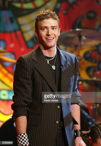 Justin Timberlake at The Tonight Show with Jay Leno at the NBC Studios in Burbank Ca Thursday Oct 31 2002 Photo by Kevin Winter/ImageDirect