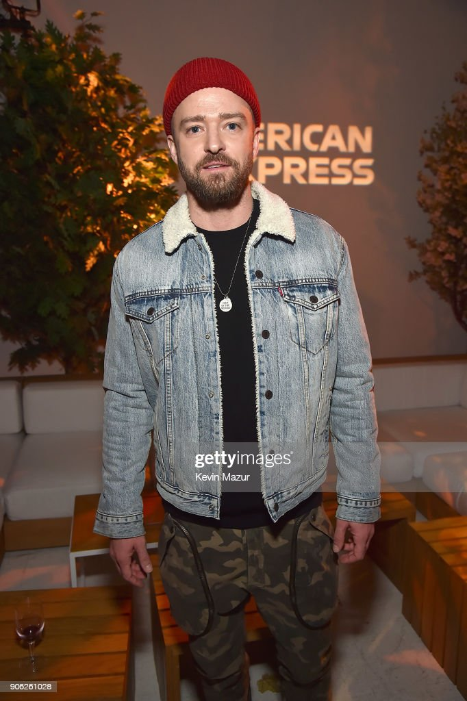 Justin Timberlake attends American Express x Justin Timberlake 'Man Of The Woods' listening session at Skylight Clarkson Sq on January 17, 2018 in New York City.