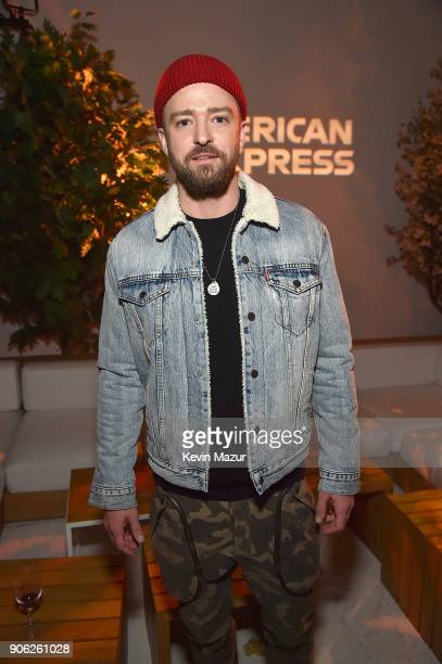 Justin Timberlake attends American Express x Justin Timberlake 'Man Of The Woods' listening session at Skylight Clarkson Sq on January 17 2018 in New...