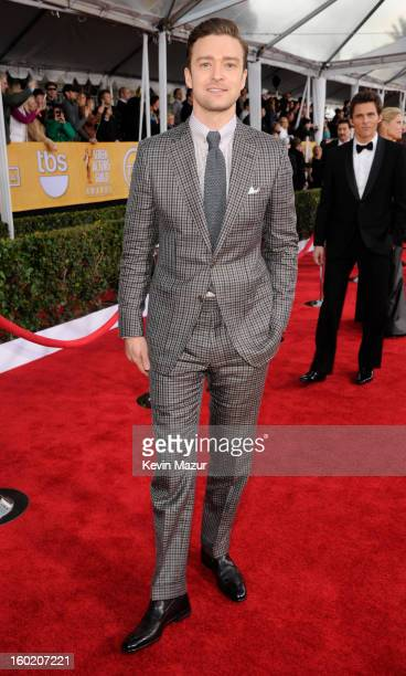 Justin Timberlake attends the 19th Annual Screen Actors Guild Awards at The Shrine Auditorium on January 27 2013 in Los Angeles California...