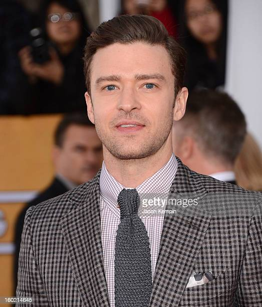 Justin Timberlake attends the 19th Annual Screen Actors Guild Awards at The Shrine Auditorium on January 27 2013 in Los Angeles California