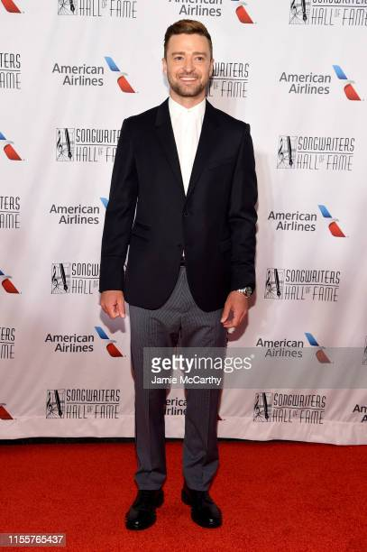 Justin Timberlake attends the 2019 Songwriters Hall Of Fame at The New York Marriott Marquis on June 13 2019 in New York City