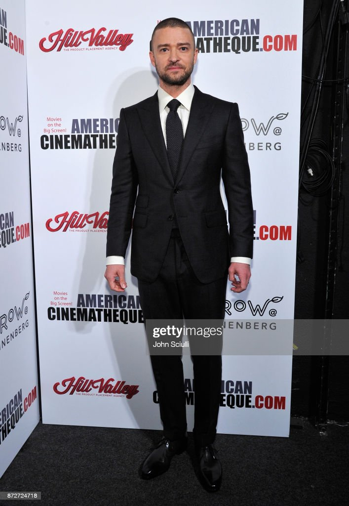 Justin Timberlake attends the 31st American Cinematheque Award Presentation Honoring Amy Adams Presented by GRoW @ Annenberg. Presentation of The 3rd Annual Sid Grauman Award Sponsored by Hill Valley, presented to Richard Gelfond and Greg Foster on behalf of IMAX at The Beverly Hilton Hotel on November 10, 2017 in Beverly Hills, California.