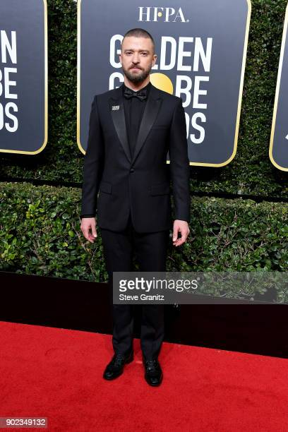 Justin Timberlake attends The 75th Annual Golden Globe Awards at The Beverly Hilton Hotel on January 7 2018 in Beverly Hills California
