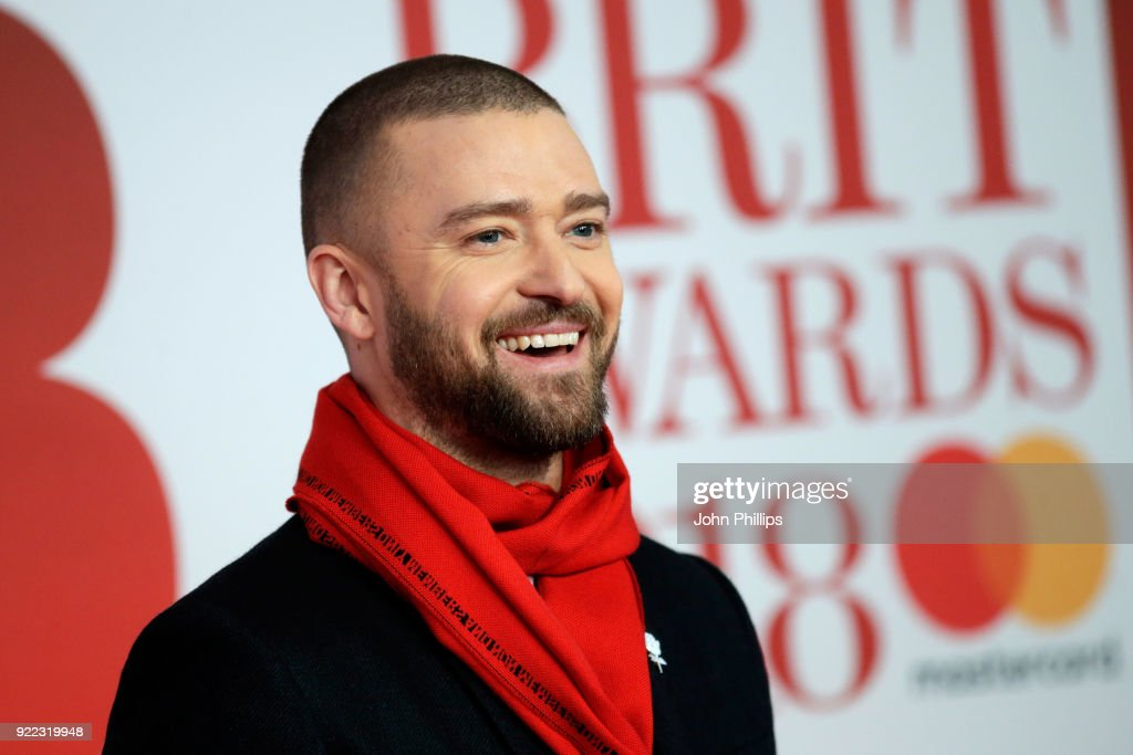 Justin Timberlake attends The BRIT Awards 2018 held at The O2 Arena on February 21, 2018 in London, England.