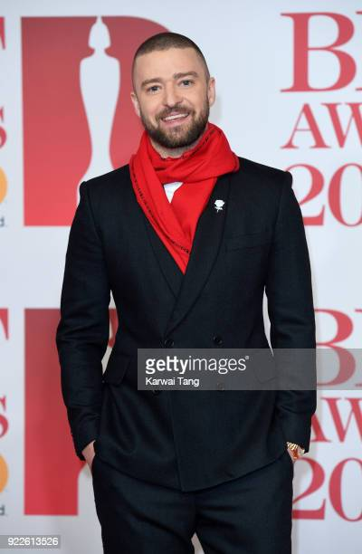 AWARDS 2018 *** Justin Timberlake attends The BRIT Awards 2018 held at The O2 Arena on February 21 2018 in London England
