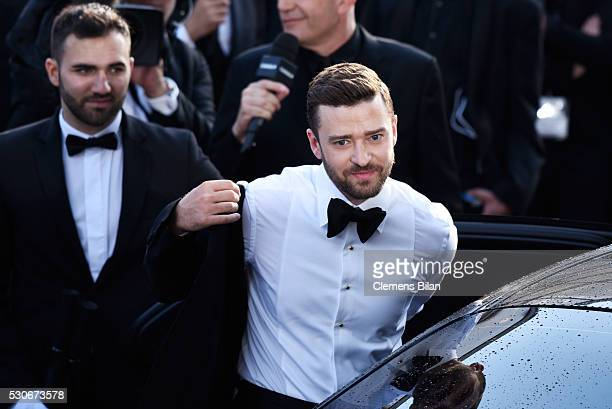 Justin Timberlake attends the Cafe Society premiere and the Opening Night Gala during the 69th annual Cannes Film Festival at the Palais des...