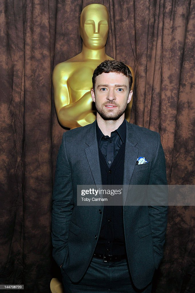 Justin Timberlake attends the centennial tribute to Gene Kelly at AMPAS Samuel Goldwyn Theater on May 17, 2012 in Beverly Hills, California.