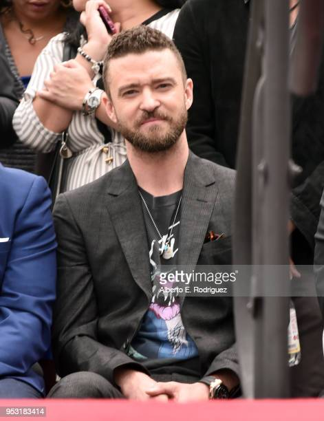 Justin Timberlake attends the ceremony honoring NSYNC with a star on the Hollywood Walk of Fame on April 30 2018 in Hollywood California