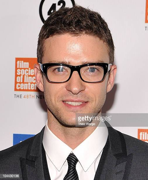 Justin Timberlake attends the premiere of The Social Network during the 48th New York Film Festival at Alice Tully Hall Lincoln Center on September...