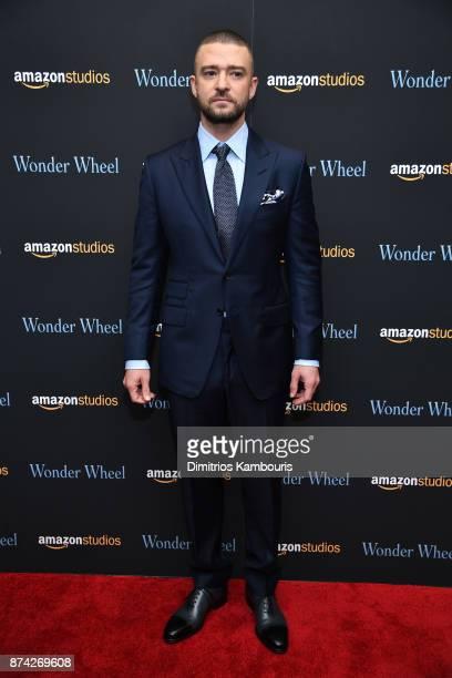 Justin Timberlake attends the 'Wonder Wheel' screening at Museum of Modern Art on November 14 2017 in New York City