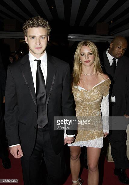 Justin Timberlake Britney Spears at the Beverly Hills Hotel in Beverly Hills California