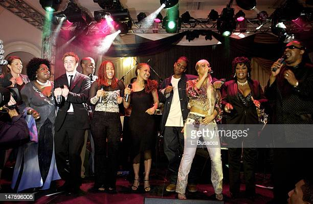 Justin Timberlake Destiny's Child Mario Alicia Keys Patti LaBelle Stevie Wonder