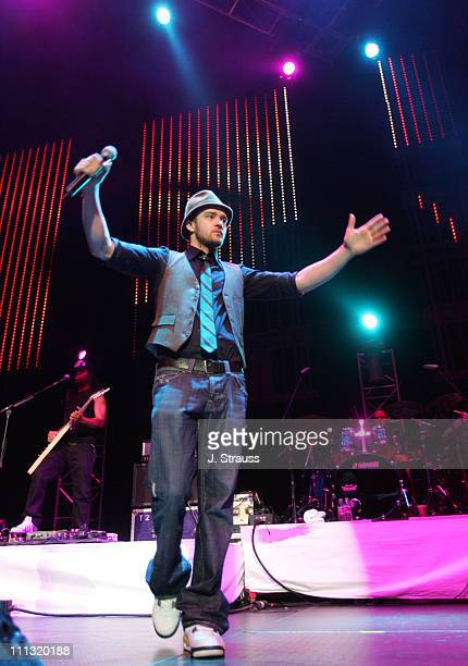 "Justin Timberlake during 102.7 KIIS FM ""Jingle Ball"" 2006 at Honda Center in Anaheim, California, United States."
