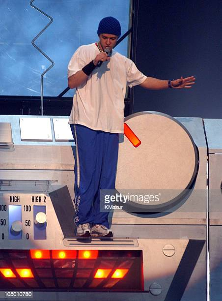 Justin Timberlake during 2002 MTV Video Music Awards Dress Rehearsal at Radio City Music Hall in New York City New York United States
