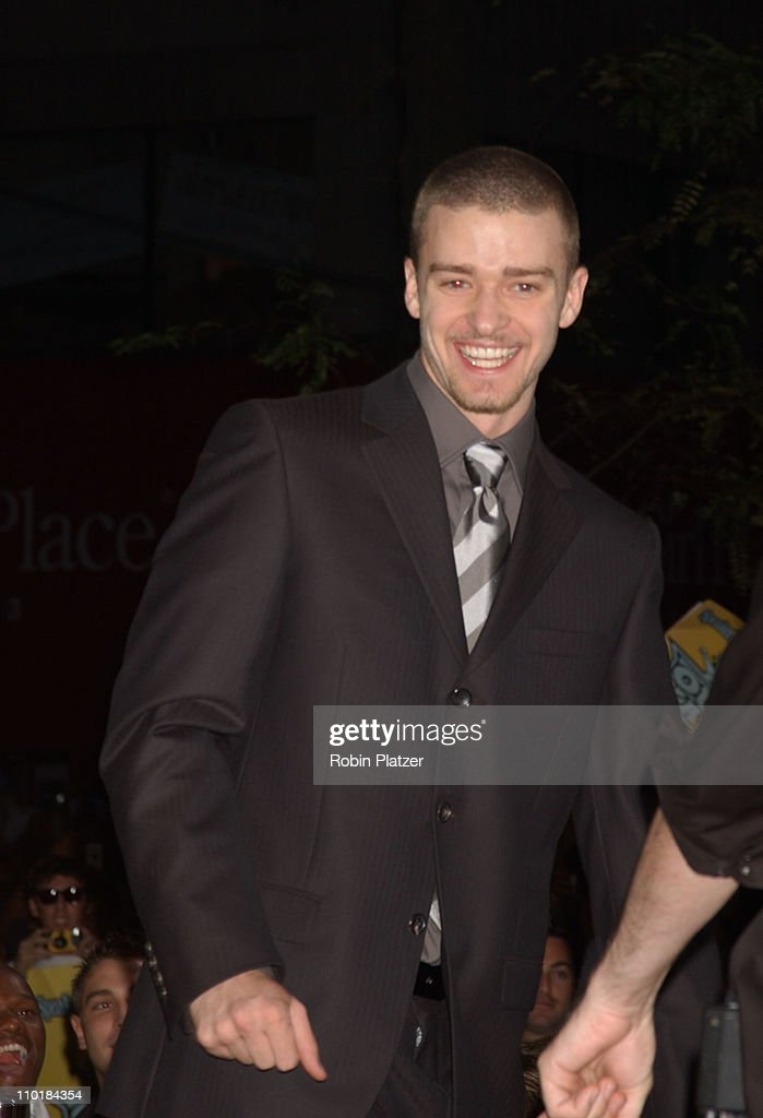 Justin Timberlake during 2003 MTV Video Music Awards - Arrivals at Radio City Music Hall in New York City, New York, United States.