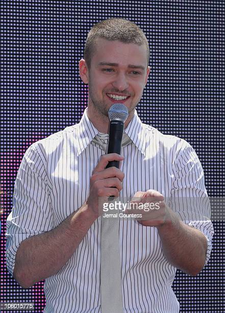 Justin Timberlake during 2006 MTV Video Music Awards Nomination Announcement at Top of the Rock Rockefeller Center in New York City New York United...