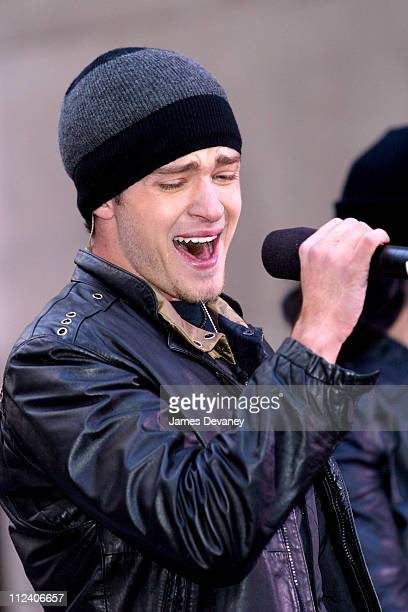 Justin Timberlake during Justin Timberlake Performs 'The Today Show' November 8 2002 at NBC Studios Rockefeller Center in New York City New York...
