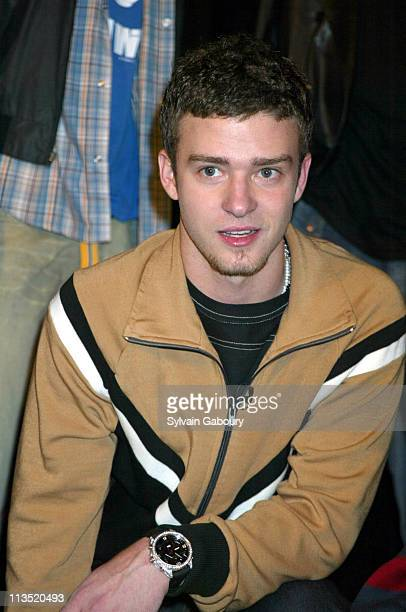 Justin Timberlake during Members of *NSYNC See Their Doubles at Madame Tussaud's Wax Museum at Madame Tussaud's Wax Museum in New York New York...