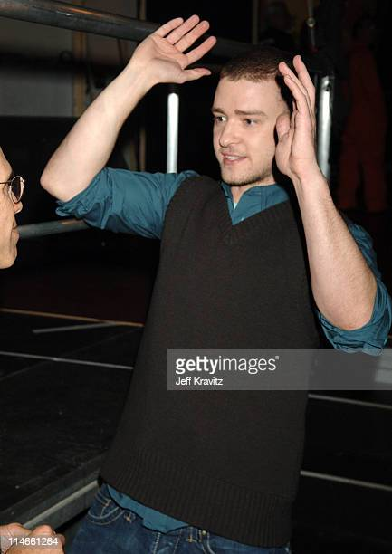 Justin Timberlake during Nickelodeon's 19th Annual Kids' Choice Awards - Backstage and Audience at Pauley Pavillion in Westwood, California, United...