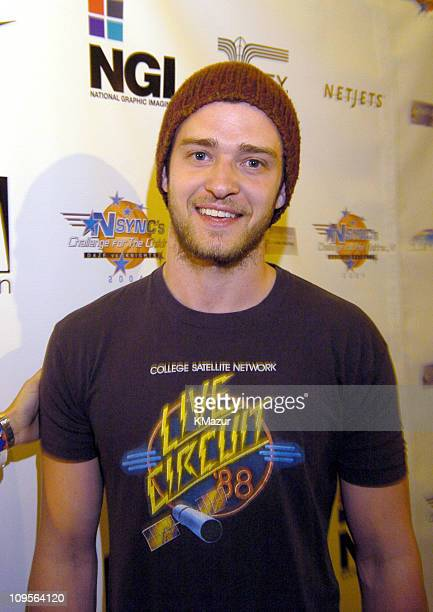 Justin Timberlake during *NSYNC's Challenge for the Children VI Day 1 Mansion Party Arrivals at Mansion in Miami Beach Florida United States