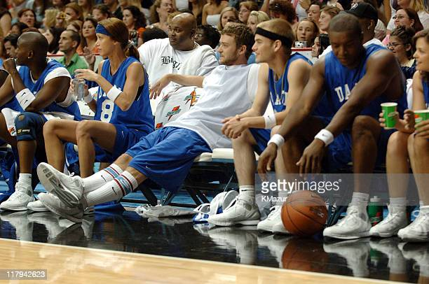 Justin Timberlake during *NSYNC's Challenge for the Children VII Celebrity Basketball Game at Allstate Arena in Chicago Illinois United States