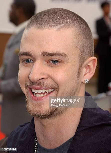 Justin Timberlake during The 17th Annual Soul Train Music Awards Arrivals at Pasadena Civic Auditorium in Pasadena California United States