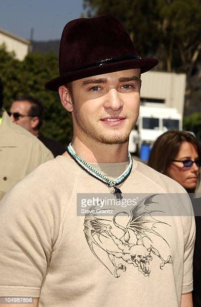 Justin Timberlake during The 2002 Teen Choice Awards Arrivals at The Universal Amphitheatre in Universal City California United States