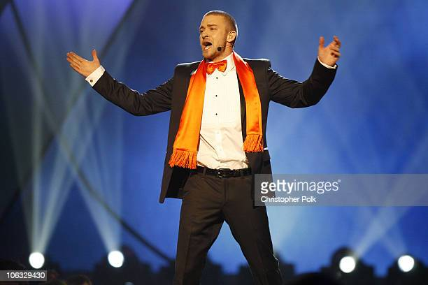 Justin Timberlake host during Nickelodeon's 20th Annual Kids' Choice Awards Show at Pauley Pavilion in Westwood California United States