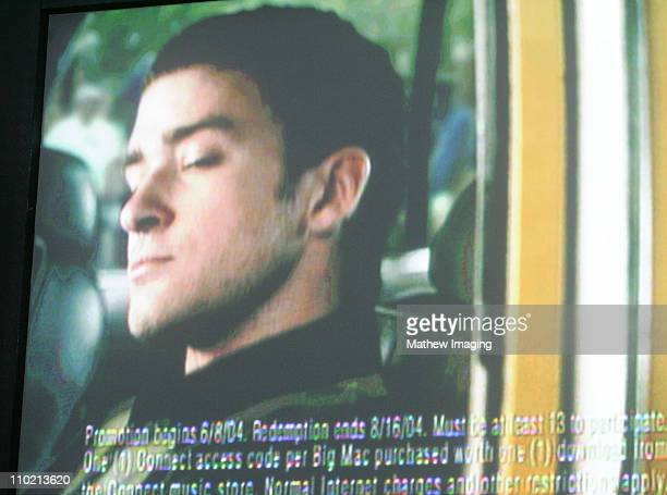 Justin Timberlake in a scene from an upcoming McDonalds commercial