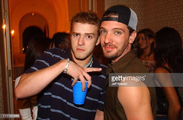 Justin Timberlake JC Chasez during JC Chasez Birthday Party in Beverly Hills California United States