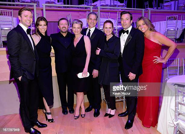 Justin Timberlake Jessica Biel Ricky Gervais TIME managing editor Rick Stengel Jimmy Fallon and Nancy Juvonen attend the TIME 100 Gala TIME'S 100...