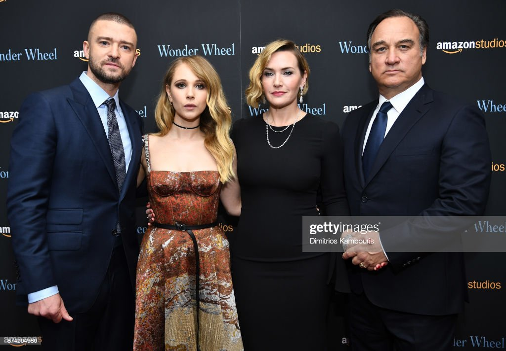 Justin Timberlake, Juno Temple, Kate Winslet and Jim Belushi attend the 'Wonder Wheel' screening at Museum of Modern Art on November 14, 2017 in New York City.