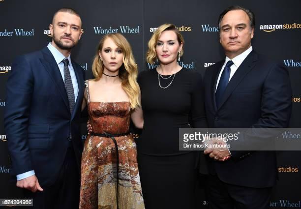 Justin Timberlake Juno Temple Kate Winslet and Jim Belushi attend the 'Wonder Wheel' screening at Museum of Modern Art on November 14 2017 in New...