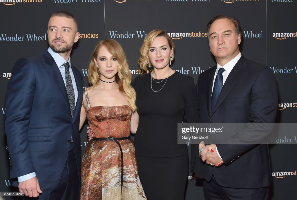 Justin Timberlake, Juno Temple, Kate Winslet and Jim Belushi attend the 'Wonder Wheel' New York screening at the Museum of Modern Art on November 14, 2017 in New York City.