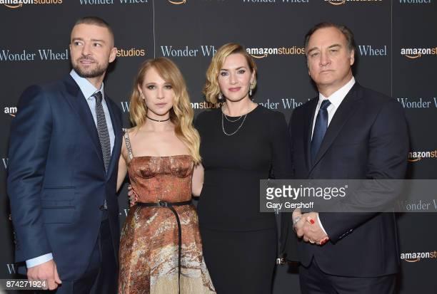 Justin Timberlake Juno Temple Kate Winslet and Jim Belushi attend the 'Wonder Wheel' New York screening at the Museum of Modern Art on November 14...