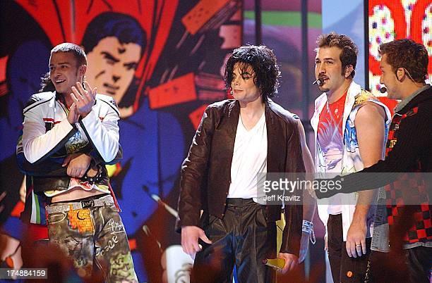 Justin Timberlake Michael Jackson and Joey Fatone