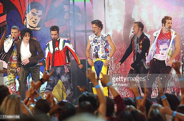 Justin Timberlake Michael Jackson Chris Kirkpatrick JC Chasez Lance Bass and Joey Fatone
