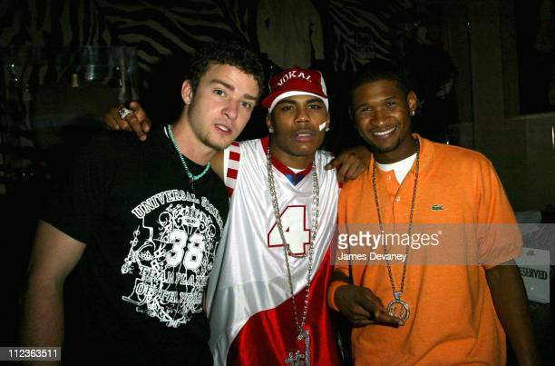 Justin Timberlake Nelly and Usher during *NSYNC Challenge for the Children IV Closing Party at Planet Hollywood at Planet Hollywood in Orlando...