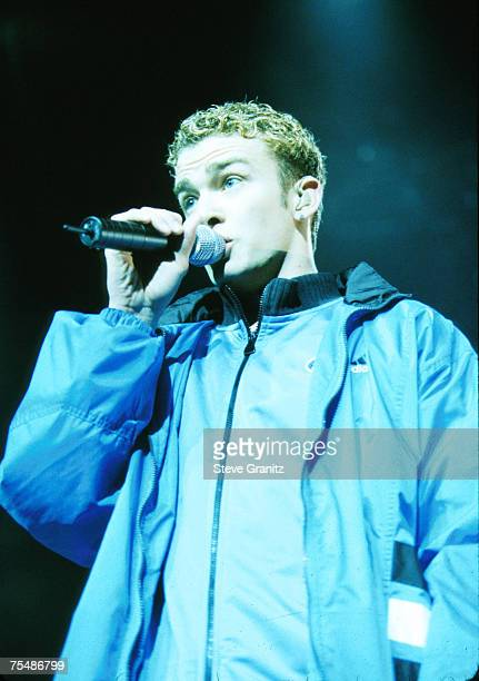 Justin Timberlake of NSYNC at the The Forum in Los Angeles California