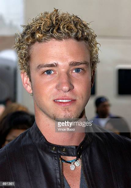 Justin Timberlake of ''NSYNC attends the 29th Annual American Music Awards at the Shrine Auditorium January 9 2002 in Los Angeles CA
