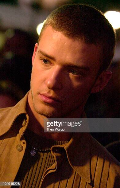 Justin Timberlake of *NSYNC during Michael Jackson's 30th Anniversary Celebration Arrivals at Madison Square Garden in New York City New York United...