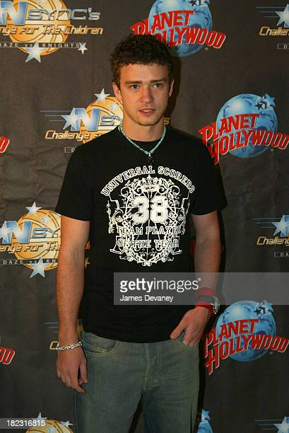Justin Timberlake of *NSYNC during *NSYNC Challenge for the Children IV Closing Party at Planet Hollywood at Planet Hollywood in Orlando Florida...
