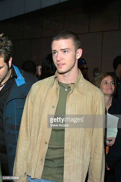 Justin Timberlake of the band 'N'Sync'