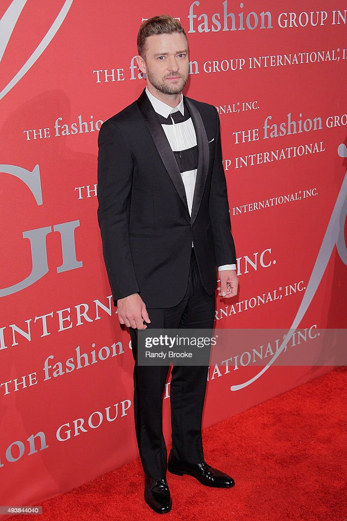 Justin Timberlake on the red carpet during the 2015 Fashion Group International Night Of Stars Gala at Cipriani Wall Street on October 22, 2015 in New York City.