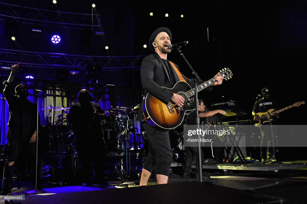 Justin Timberlake performs at 'A Concert for Charlottesville,' at University of Virginia's Scott Stadium on September 24, 2017 in Charlottesville, Virginia. Concert live-stream presented in partnership with Oath.