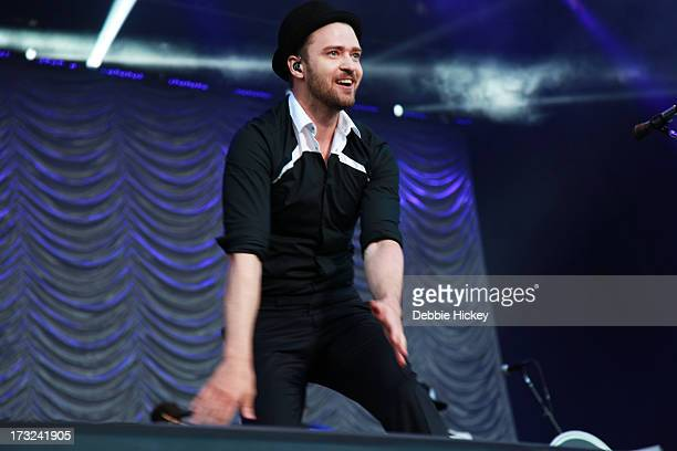 Justin Timberlake performs at Phoenix Park on July 10 2013 in Dublin Ireland