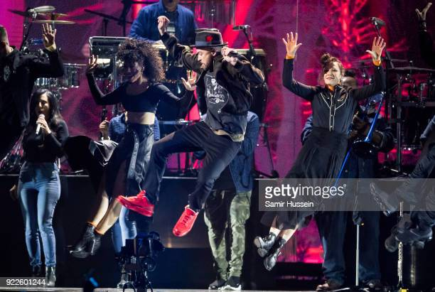 AWARDS 2018 *** Justin Timberlake performs at The BRIT Awards 2018 held at The O2 Arena on February 21 2018 in London England